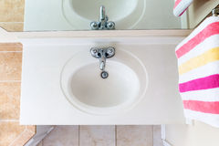 Above View of Classical Clean Domestic Sink Stock Photo