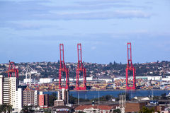 Above View of Durban City Skyline and Harbor royalty free stock images