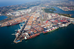 Above view of durban harbor. South africa Royalty Free Stock Images