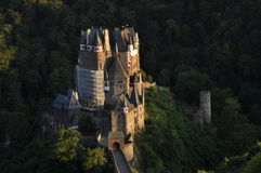 Above view of the Eltz Castle Royalty Free Stock Photos