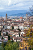 Above view of Florence city in autumn day Stock Photo