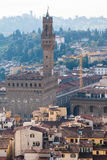 Above view Florence city with Palazzo Vecchio Stock Photos