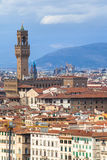 Above view of Florence town with Palazzo Vecchio Royalty Free Stock Photos