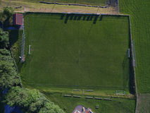 Above view of football pitch in sunlight Stock Photography