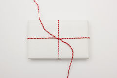 Above view of gift opening Royalty Free Stock Image