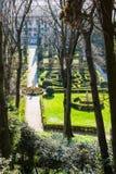Above view of Giusti Garden in Verona city Stock Photo