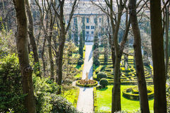 Above view of Giusti Garden in Verona in spring Stock Images