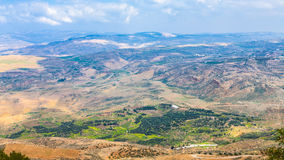 Above view of Holy Land from Mount Nebo in winter Stock Image