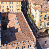 Above view of House of the Merchants in Verona Royalty Free Stock Photography