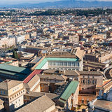 Above view of houses in Rome city Royalty Free Stock Photography