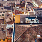 Above view of houses in Verona city Stock Photos