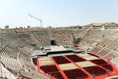 Above view of interior amphitheater Verona Arena Stock Photo