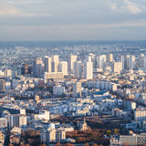 Above view of living district in Paris city Royalty Free Stock Images