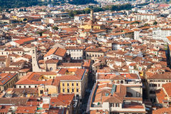 Above view of living quarters in Florence city Royalty Free Stock Photos