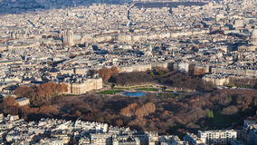 Above view of luxembourg garden in Paris city Royalty Free Stock Photos