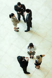 Above view meeting Stock Images