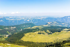 Above view of Monte Baldo mountains, Italy Stock Images