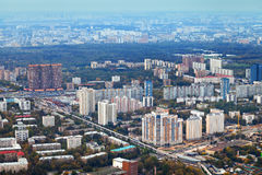 Above view Moscow in autumn afternoon Royalty Free Stock Photography