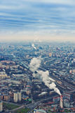 Above view Moscow cityscape in autumn Royalty Free Stock Photos