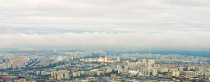 Above view Moscow cityscape in autumn Royalty Free Stock Images