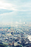 Above view Moscow cityscape in autumn Stock Photo