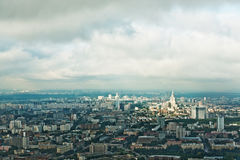 Above view Moscow cityscape Royalty Free Stock Photos