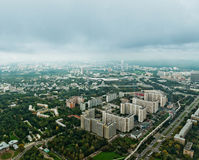 Above view Moscow cityscape Stock Photo