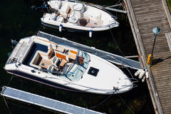 Above view of motorboats Stock Photos