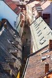 Above view of narrow Bastova street in Bratislava Stock Photography