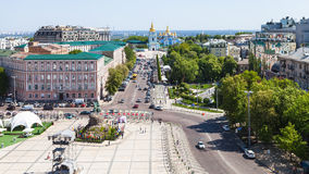 Above View Of St Sofia Square In Kiev City Royalty Free Stock Images