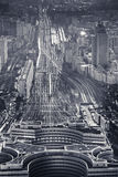 Above view over terminus. Above view over Paris Montparnasse terminus Royalty Free Stock Image
