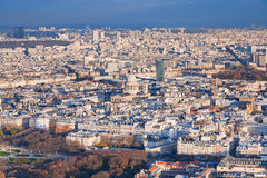 Above view on Paris Stock Images