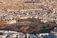 Above view on Paris Royalty Free Stock Image