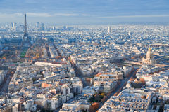 Above view on Paris Royalty Free Stock Photos
