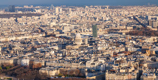 Above view of in Paris city with Pantheon Royalty Free Stock Photos