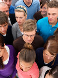 Above view of people standing together waiting Royalty Free Stock Photos