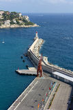 Above View of the Port of Nice Royalty Free Stock Images