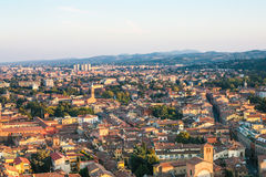 Above view of residential area in Bologna city Stock Photo