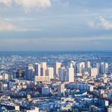 Above view of residential district in Paris city Stock Photo