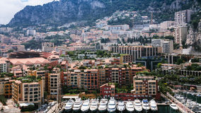 Above view of residential districts in Monaco city. Travel to Monaco - bove view of residential districts in Monaco city royalty free stock photography