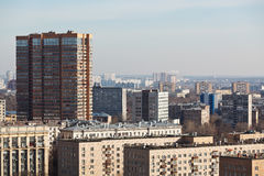 Above view of residential quarters in big city Royalty Free Stock Photos