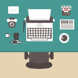 Above view retro workspace Stock Images
