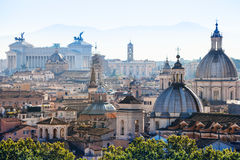 Above view of Rome city in side of Capitoline Hill Stock Image