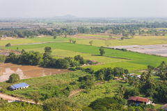 Above view of rural Thailand. Stock Photo