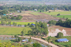 Above view of rural Thailand. Royalty Free Stock Images