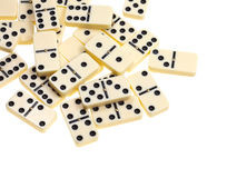 Above view of scattered dominoes Stock Image