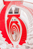 Above view with spiral staircase Royalty Free Stock Photo