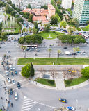 Above view square Placa de Pius XII in Barcelona Royalty Free Stock Photography