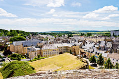 Above view of town Sedan, France Stock Photography