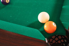 Above view on two billiard balls. Stock Photography